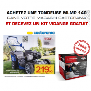 Offre castorama kit vidange tondeuse offert for Castorama 15 aout