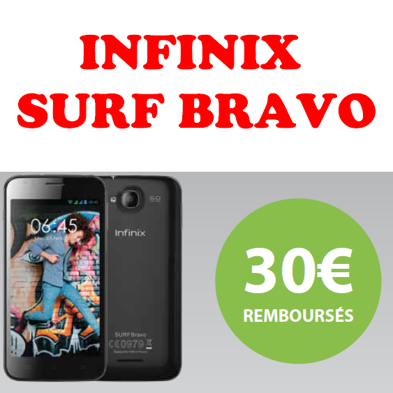 offre de remboursement 30 sur mobile infinix surf bravo catalogues promos bons plans. Black Bedroom Furniture Sets. Home Design Ideas