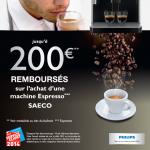 anti-crise.fr Offre de Remboursement 200€ sur Machine Espresso Saeco