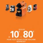 Offre de Remboursement 80€ sur Machine Nespresso