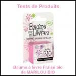 Tests de Produits : Baume à lèvre Fraise bio de MARILOU BIO - anti-crise.fr