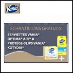 Echantillons Vania : Serviettes Optima Air et Protège-Slips Kotyidia - anti-crise.fr