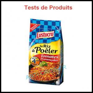 Tests de Produits : Riz à poêler tomates provençales de Lustucru - anti-crise.fr