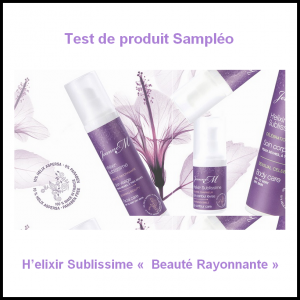 test de produit sampl o h elixir sublissime beaut rayonnante. Black Bedroom Furniture Sets. Home Design Ideas