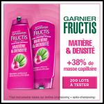 Test de produit : shampooing et après-shampooing Fructis Matière & Densité de Garnier - anti-crise.fr