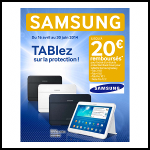 offre de remboursement samsung jusqu 39 20 sur les tablettes catalogues promos bons plans. Black Bedroom Furniture Sets. Home Design Ideas