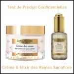 Test de Produit Confidentielles : Crème et Elixir des Reines Sanoflore - anti-crise.fr