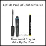 Test de Produit Confidentielles : Mascara et Crayon Make Up For Ever - anti-crise.fr