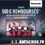 anti-crise.fr offre de remboursement panasonic televiseur 4k