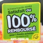 anti-crise.fr offre de remboursement pizza sodebo presto