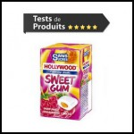 Tests de Produits : Sweet Gum framboise - pêche de Hollywood - anti-crise.fr