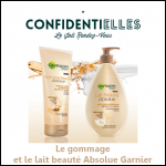 Test de Produit : Le Gommage et le Lait Beauté Absolue Garnier - anti-crise.fr