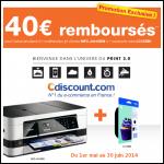 Offre de Remboursement Cdiscount 40 € sur une multifonction Brother MFC-J4410DW + une Cartouche noire - anti-crise.fr