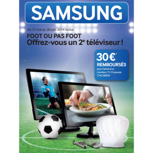 offre de remboursement samsung 30 pour l 39 achat d 39 un moniteur tv 24 catalogues promos. Black Bedroom Furniture Sets. Home Design Ideas