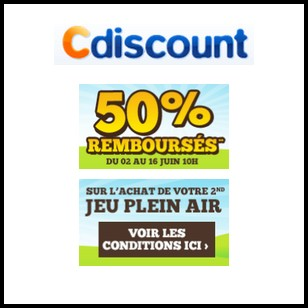 offre de remboursement cdiscount 50 en un bon d achat. Black Bedroom Furniture Sets. Home Design Ideas