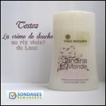 Test de Produit Sondages Rémunérés : Crème de douche Yves Rocher au Riz Violet du Laos - anti-crise.fr