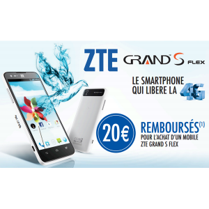 offre de remboursement zte 20 pour l 39 achat d 39 un mobile grand s flex catalogues promos bons. Black Bedroom Furniture Sets. Home Design Ideas