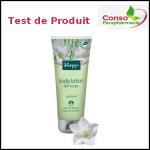 Test de Produit Conso Parapharmacie : Lait corps Kneipp® au patchouli - anti-crise.fr