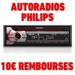 Anti-crise.fr offre de remboursement 10€ sur autoradio philips