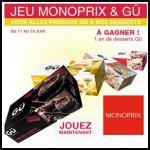 Tirage au Sort Monoprix sur Facebook : 1 An de Desserts Gü à Gagner - anti-crise.fr