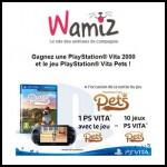 Tirage au Sort Wamiz : Une PlayStation® Vita 2000 et des jeux PlayStation® Vita Pets à Gagner - anti-crise.fr