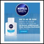 Test de Produit Nivea For Men sur Facebook : Baume Après-Rasage Peau Sensible Fraîcheur - anti-crise.fr
