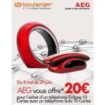 Offre de Remboursement AEG : 20 € pour l'achat d'un téléphone Eclipse 10 Cerise + un téléphone Solo 10 Cerise - anti-crise.fr