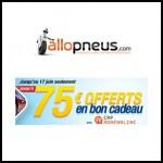 Offre de Remboursement Allopneus : Jusqu'à 75 € en bon cadeau pour l'achat de pneus Goodyear - anti-crise.fr