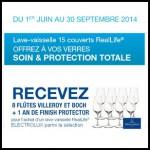 Bon Plan Electrolux : 8 flûtes Villeroy et Boch + 1 an de Finish Protector pour l'achat d'un lave-vaisselle - anti-crise.fr