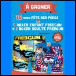 Tirage au Sort Je Dessine : 1 Boxer Freegun Enfant + 1 Boxer Freegun Adulte à Gagner - anti-crise.fr