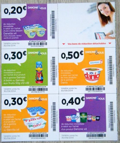 Coupons reductions danone