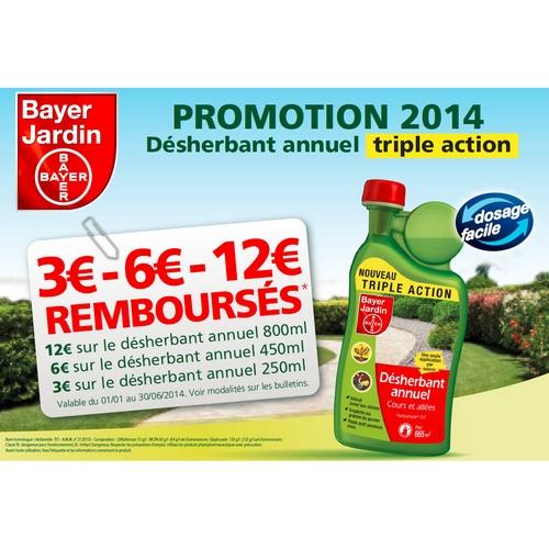 Offre de remboursement 12 sur d sherbant bayer for Bayer jardin anti mousse
