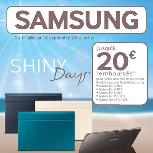 offre de remboursement odr samsung 20 sur etui pour tablette. Black Bedroom Furniture Sets. Home Design Ideas
