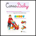 Test de Produit Conso Baby : Buggy Porteur Pousseur ANDDY d'Oxybul - anti-crise.fr
