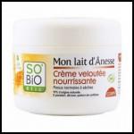 Test de Produit So'Bio étic : Crème veloutée nourrissante corps Mon Lait d'Anesse - anti-crise.fr