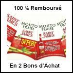 Offre de Remboursement (ODR) Saint James : Mojito Fraise 100 % Remboursé en 2 Bons d'Achat - anti-crise.fr