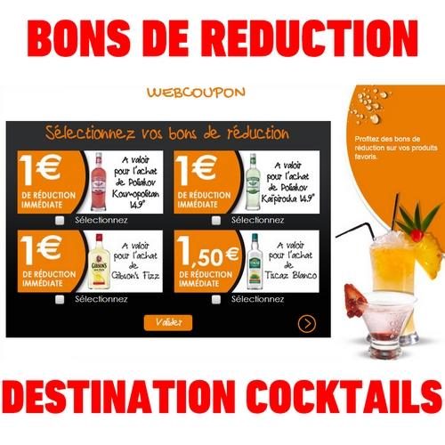 bon de réduction destination cocktails