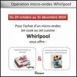 Bon Plan Whirlpool : Un appareil à fondue au chocolat + un livre de recettes au chocolat pour l'achat d'un micro-ondes - anti-crise.fr