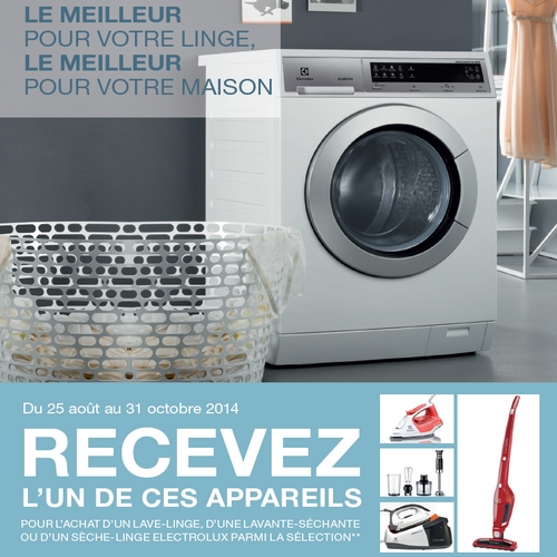 bon plan electrolux lave linge ou s che linge achet 1 appareil offert. Black Bedroom Furniture Sets. Home Design Ideas