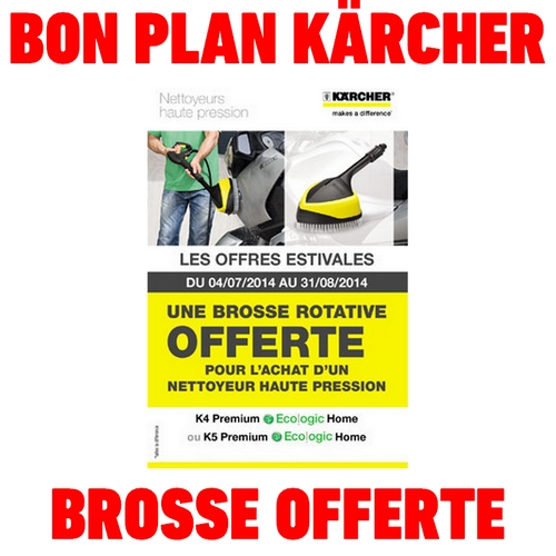 bon plan k rcher brosse rotative offerte catalogues promos bons plans economisez anti. Black Bedroom Furniture Sets. Home Design Ideas
