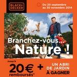 odr offre de remboursement 20 euros sur outils de jardin black et decker