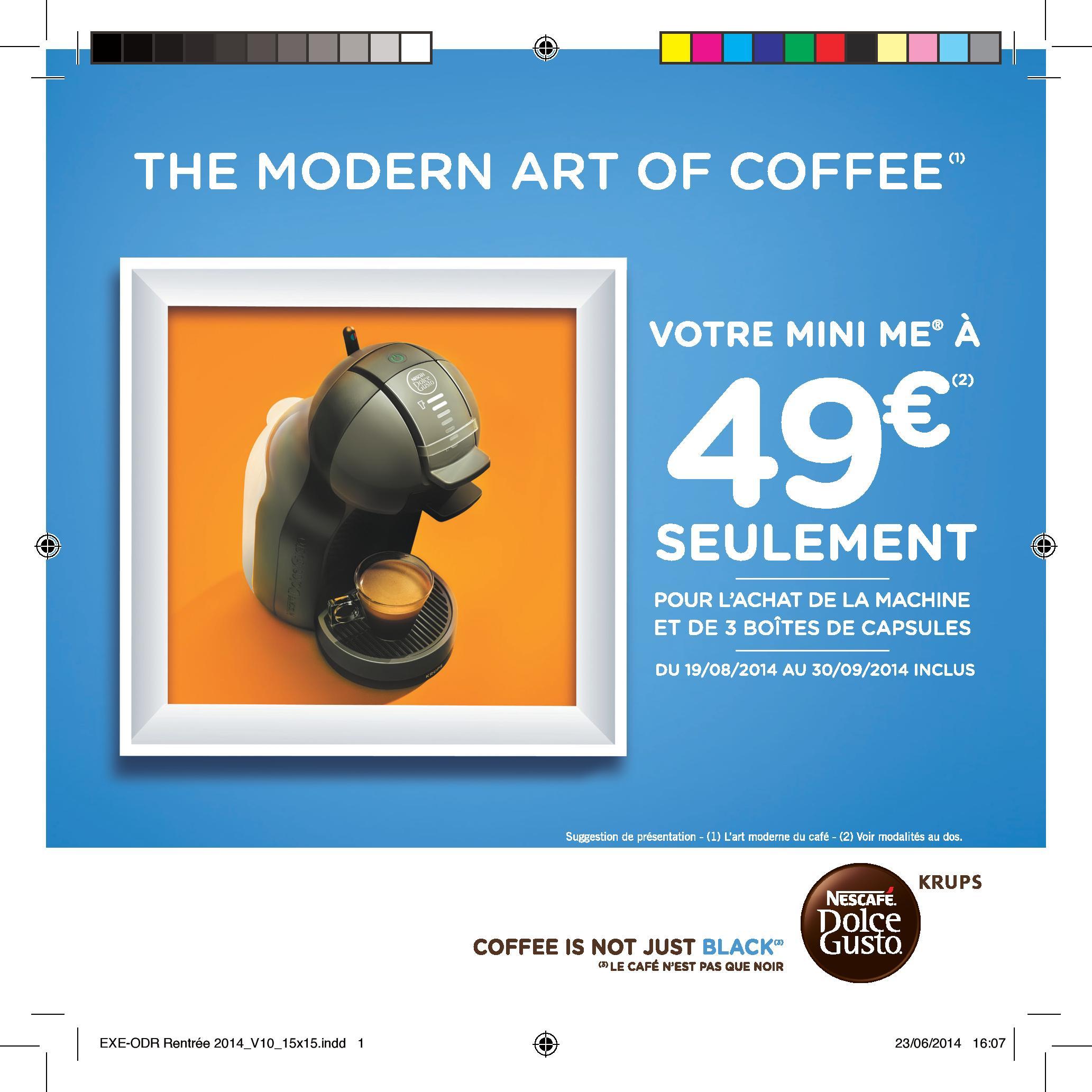 offre de remboursement odr nescaf dolce gusto votre machine mini me 49. Black Bedroom Furniture Sets. Home Design Ideas