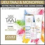 Tirage au Sort Monoprix : Des soins divins Taaj à Gagner - anti-crise.fr