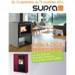Offre de Remboursement (ODR) Supra : Jusqu'à 250 € sur les Poêles à granulés ou à bois - anti-crise.fr