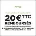 Offre de Remboursement (ODR) HTC : 20 € sur housse de protection HTC Folio ou HTC Dot View - anti-crise.fr