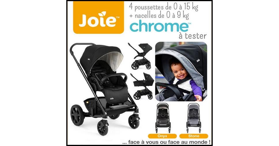 test de produit conso baby poussette chrome joie. Black Bedroom Furniture Sets. Home Design Ideas