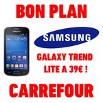 bon plan smartphone samsung galaxy trend lite