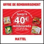 Offre de Remboursement (ODR) Mattel : Jusqu'à 40 € sur les Jeux - anti-crise.fr
