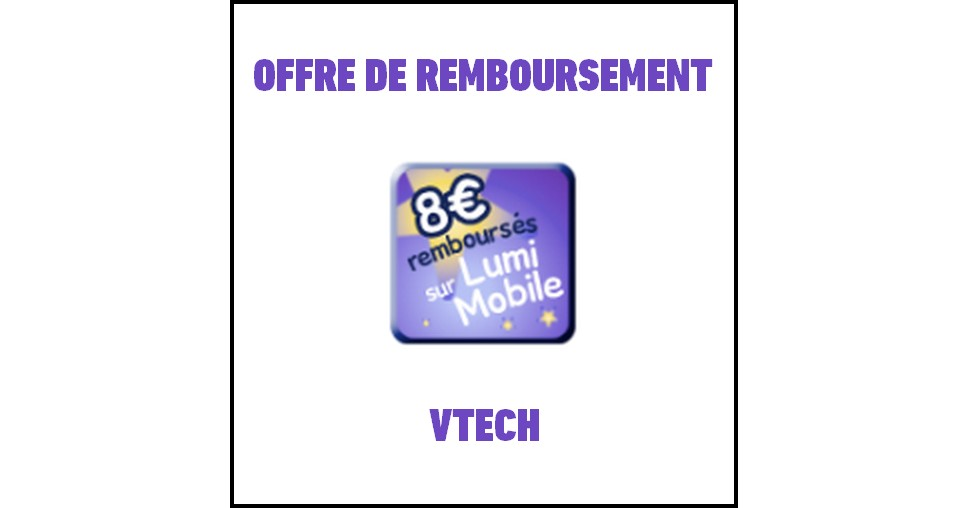 offre de remboursement odr vtech 8 sur un lumi mobile parlant 31 12 catalogues promos. Black Bedroom Furniture Sets. Home Design Ideas