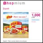 Offre de Remboursement (ODR) Shopmium : Plats cuisinés italiens et exotiques Zapetti à 1 € - anti-crise.fr